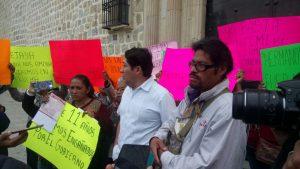 Comerciantes de la Plaza Aldama con protesta piden un espacio para trabajar.