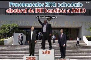 Presidenciales 2018: calendario electoral de INE beneficia a AMLO: Carlos Ramírez