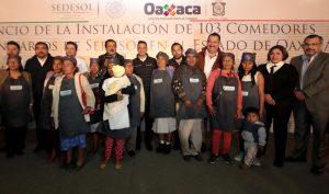 Anuncian Alejandro Murat y Eviel Pérez Magaña 103 nuevos Comedores Comunitarios en Oaxaca