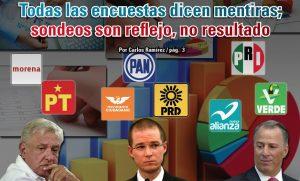 Todas las encuestas dicen mentiras; sondeos son reflejo, no resultado:  Carlos Ramírez