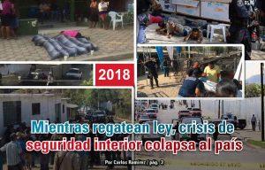 Mientras regatean ley, crisis de  seguridad interior colapsa al país: Carlos Ramírez