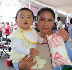 Liconsa lleva leche fortificada al 85%  de los municipios del país