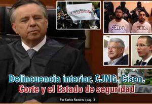 Delincuencia interior, CJNG, Cisen, Corte y el Estado de seguridad: Carlos Ramírez