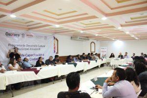 Capacita SECULTA a municipios participantes en  Programa de Desarrollo Cultural Municipal