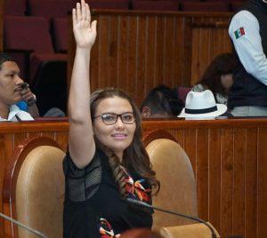 La alimentación adecuada, ya es un derecho constitucional en Oaxaca: Leslie Zavaleta