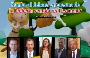 Rumbo al debate: encuestas de la lechera; ventaja real es menor: Carlos Ramírez