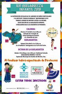 Invita Sectur Oaxaca a vivir la Guelaguetza Infantil 2018
