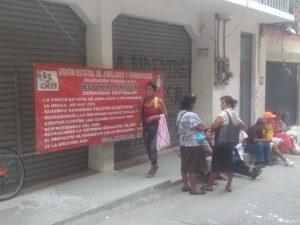 Con protestas en algunas regiones del estado jubilados exigen sus pagos