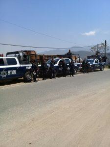 Despliega Policía Estatal dispositivo de seguridad en San Juan Chapultepec