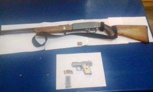 En cumplimiento a la Ley Federal de Uso de Armas de Fuego  realiza Policía Estatal dos detenciones