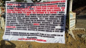Aparece presunta narcomanta en Matías Romero