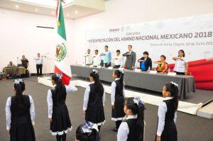 Reconoce IEEPO a las mejores interpretaciones del Himno Nacional Mexicano