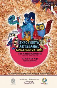 Realizan Expo Venta Artesanal Guelaguetza 2018 en San Antonio Arrazola