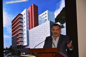 Atestigua Hernández Fraguas develación de primera piedra del Centro Médico de Alta Especialidad