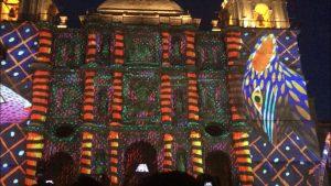 Rinden tributo a artesanos oaxaqueños con Vídeo Mapping en la Catedral