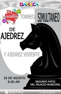 Invitan a los juegos simultáneos de ajedrez a realizarse este sábado