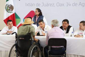 En Quinta Audiencia Pública, Alejandro Murat refrenda apoyo con la Sierra Juárez