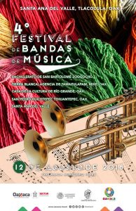 Sectur Oaxaca invita al 4º Festival de Bandas de Música de Santa Ana del Valle