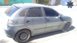Asegura Policía Estatal vehículo con reporte de robo en Santa Lucía del Camino