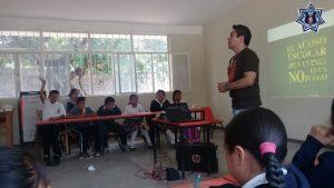Lleva SSPO jornadas de prevención del delito a escuelas en Ayoquezco de Aldama