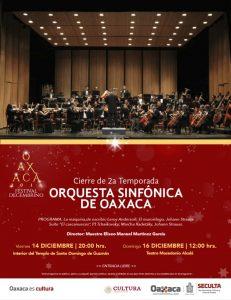Invita Seculta al cierre de la segunda temporada de la sinfónica de Oaxaca