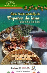 Celebra Teotitlán del Valle fiestas decembrinas con Expo Venta de Tapetes de Lana