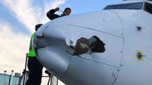 Dron impacta con avión de Aeroméxico en Tijuana