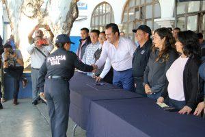 Reconoce Oswaldo García Jarquín labor de la Policía Municipal