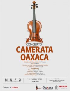 Invita Seculta al concierto Camerata Oaxaca