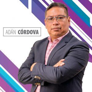 Nombren bien: Adán Córdova*