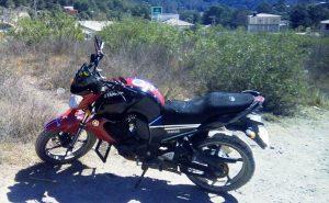 Fuerzas policiales de la SSPO recuperan una motocicleta robada