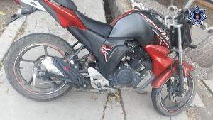 Recupera la Policía Estatal motocicleta con reporte de robo