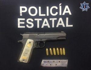 Tres personas aseguradas por la probable violación a la Ley Federal de Uso de Armas de Fuego y Explosivos en Ejutla de Crespo