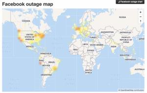 Reportan fallas en el servicio de Facebook a nivel mundial
