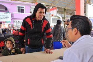 Gobierno del Estado acerca servicios de las Unidades Móviles a Huautepec