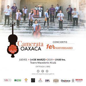 Invita Seculta a concierto de Camerata Oaxaca en el Alcalá