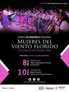Llegan desde Tlahuitoltepec, las Mujeres del Viento Florido