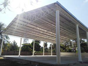 Entrega Sinfra cancha y techado en Telesecundaria de Corralero, Pinotepa Nacional