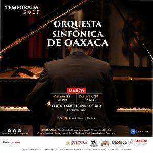 Este viernes y domingo, la Orquesta Sinfónica de Oaxaca en concierto