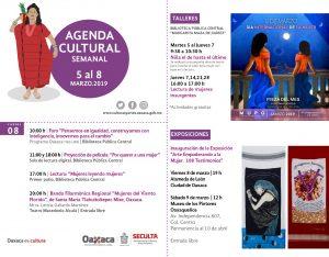 Realiza Seculta semana de actividades culturales por el Día Internacional de la Mujer