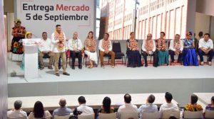 Con la reconstrucción del mercado 5 de septiembre, Juchitán recupera su herencia comercial histórica relevante para todo el Istmo: AMH