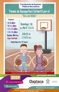 Niñas y niños festejarán su día con Torneo de Basquetbol