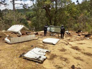 Localizan en la Sierra Sur autopartes y refacciones robadas