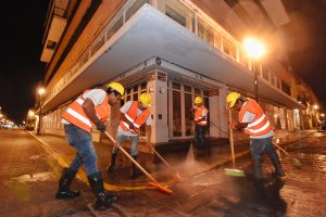 Gobierno capitalino limpia calles y portales del Centro Histórico