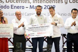 Inicia Alejandro Murat entrega de apoyos del Programa de  Escuelas de Tiempo Completo
