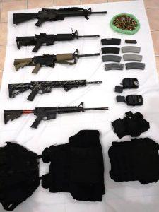 Confiscan la Policía Estatal y el Ejército Mexicano armas de grueso calibre y realizan dos detenciones