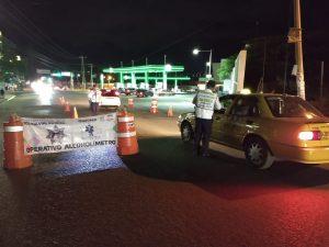 Detienen a 23 conductores durante Operativo Alcoholímetro en la capital
