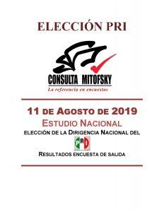 Resultado de salida de la elección de la dirigencia nacional del PRI