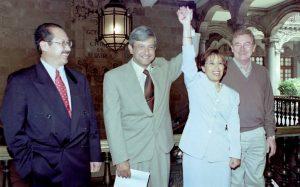 Robles, Ahumada, Diego, Peña, conducen a Salinas: Alfredo Martínez de Aguilar