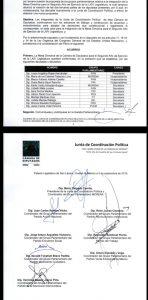 Conoce la conformación de la junta de coordinación política en el Congreso Federal.